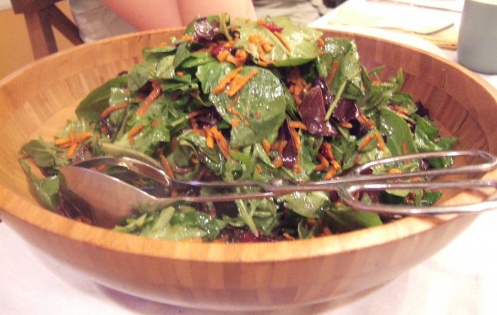 Perfect One-Dish Dinners: Mixed Greens with Shredded Carrots and Dried Cranberries