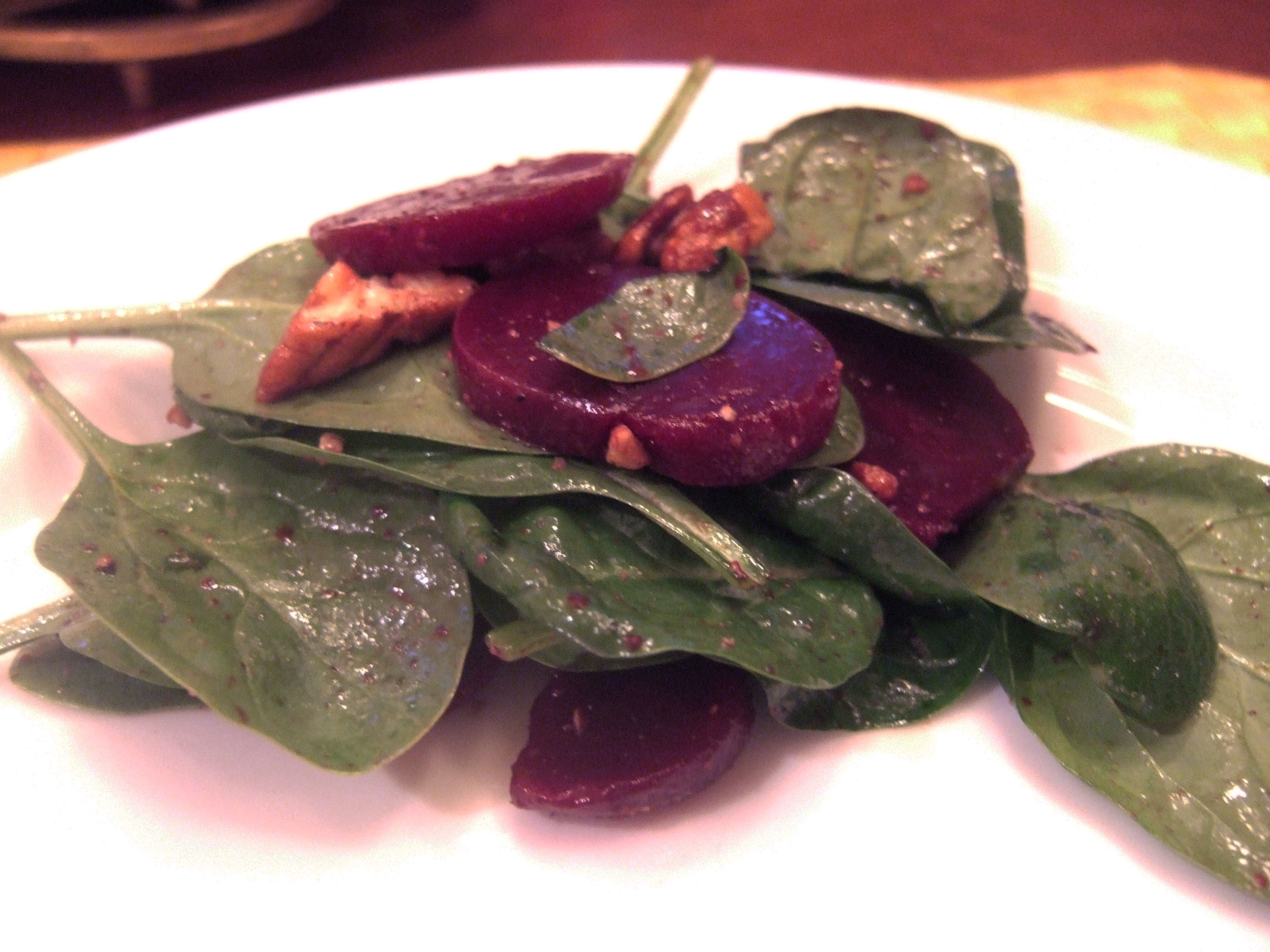 ... : Baby Spinach with Beets and Toasted Walnuts - Kate Cooks the Books