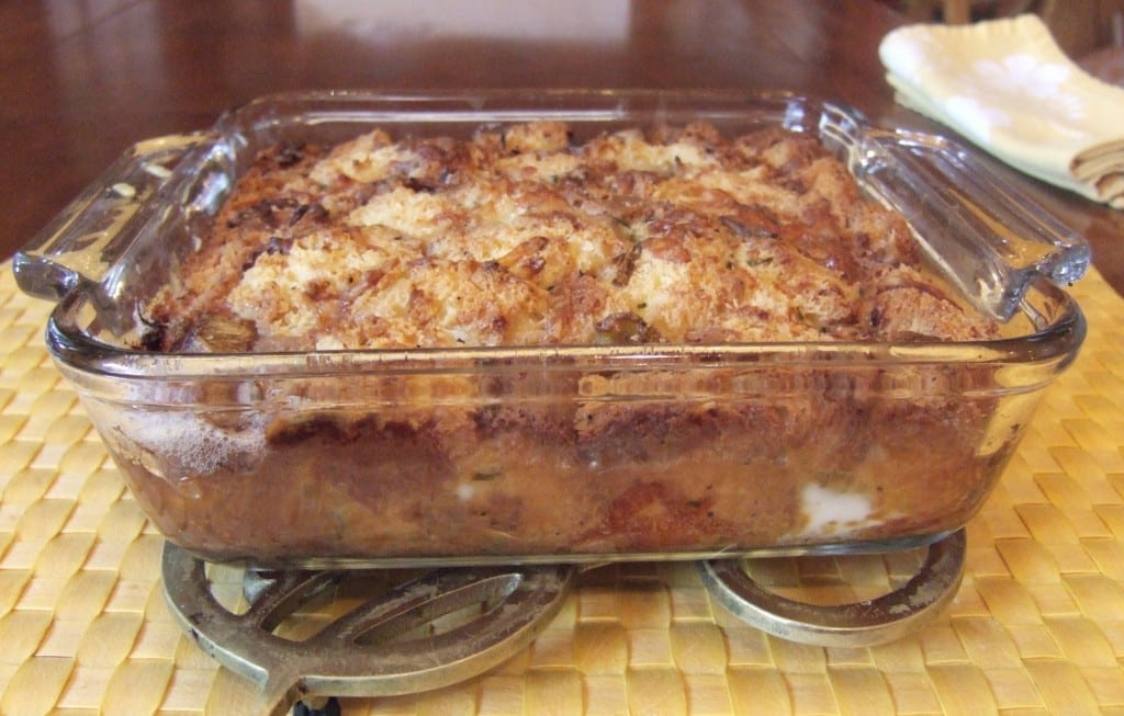 Ad Hoc at Home: Leek Bread Pudding