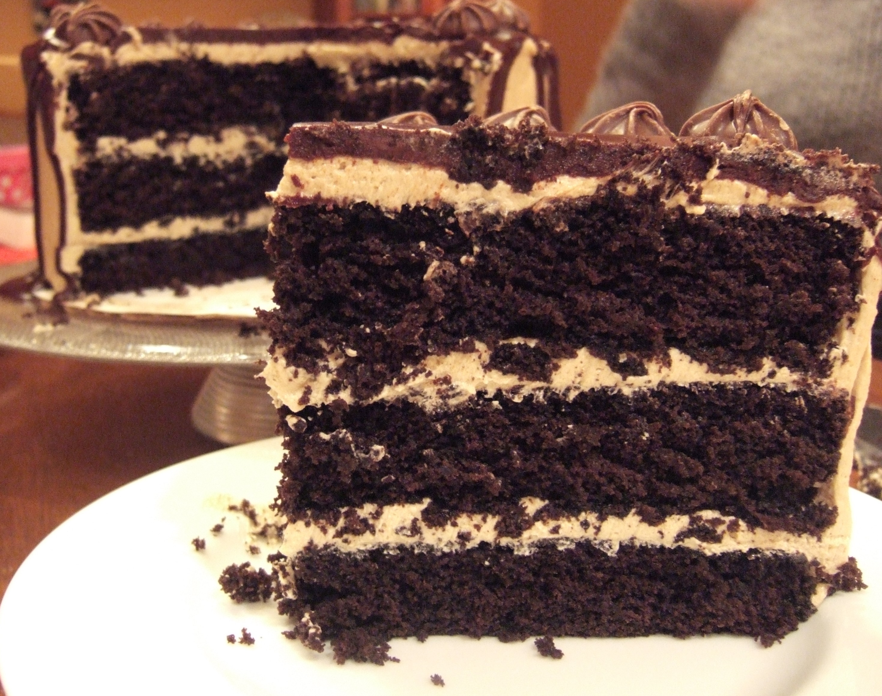 Bon Appetit Coffee Chocolate Layer Cake With Mocha Mascarpone Frosting