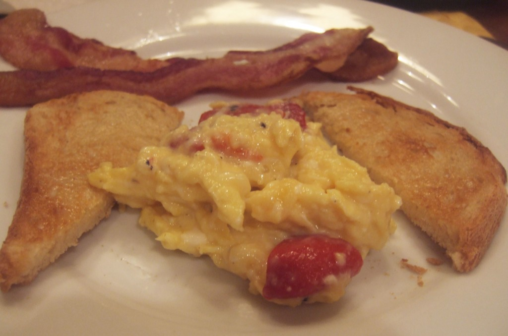 Off Topic: Scrambled Eggs with Red Pepper and Gruyere