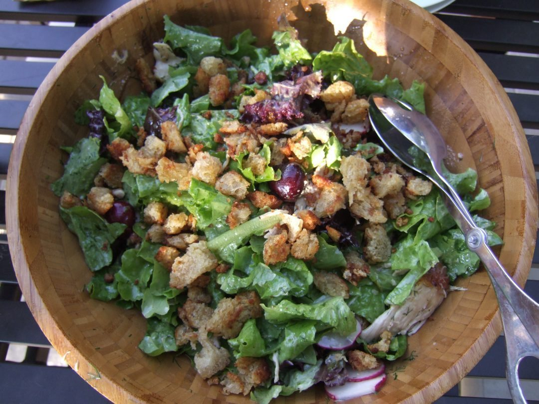 Butter Lettuce, Chicken and Cherry Salad 2