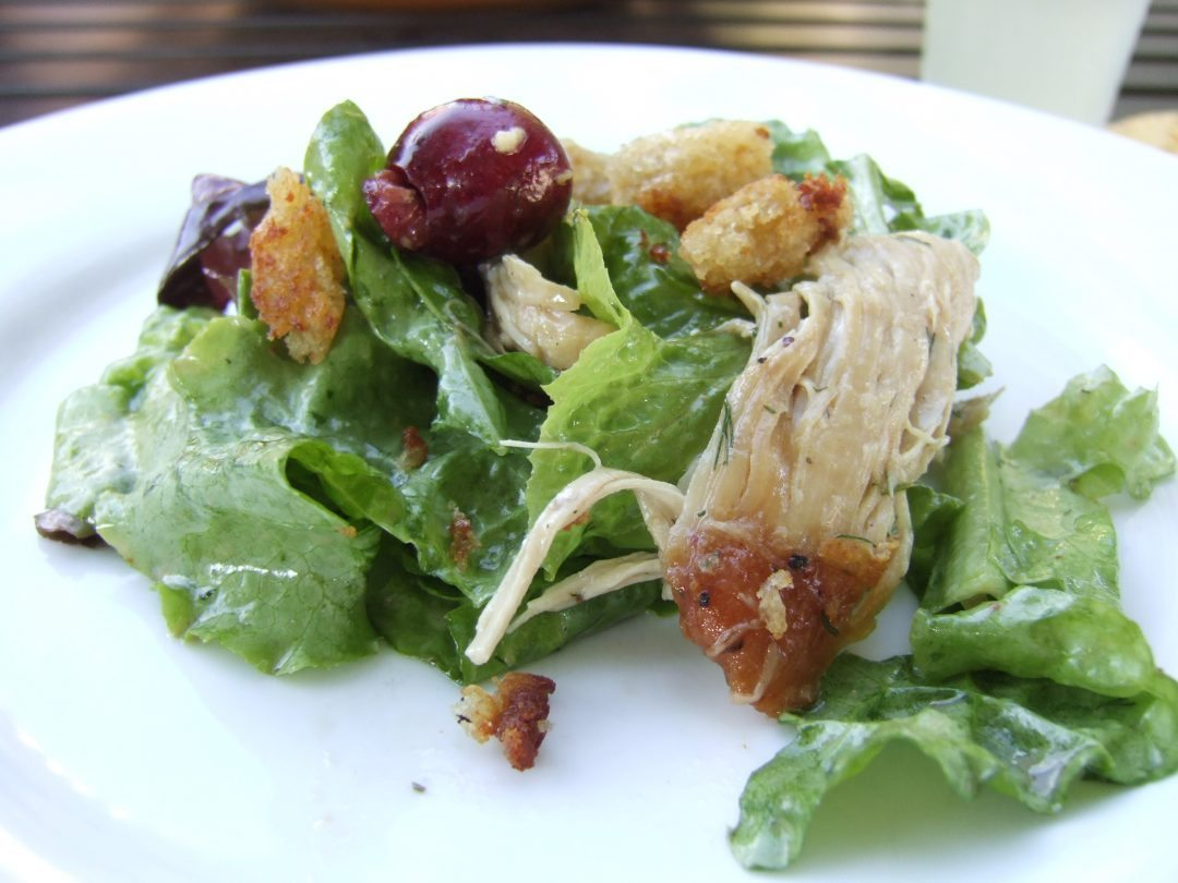 Butter Lettuce, Chicken and Cherry Salad