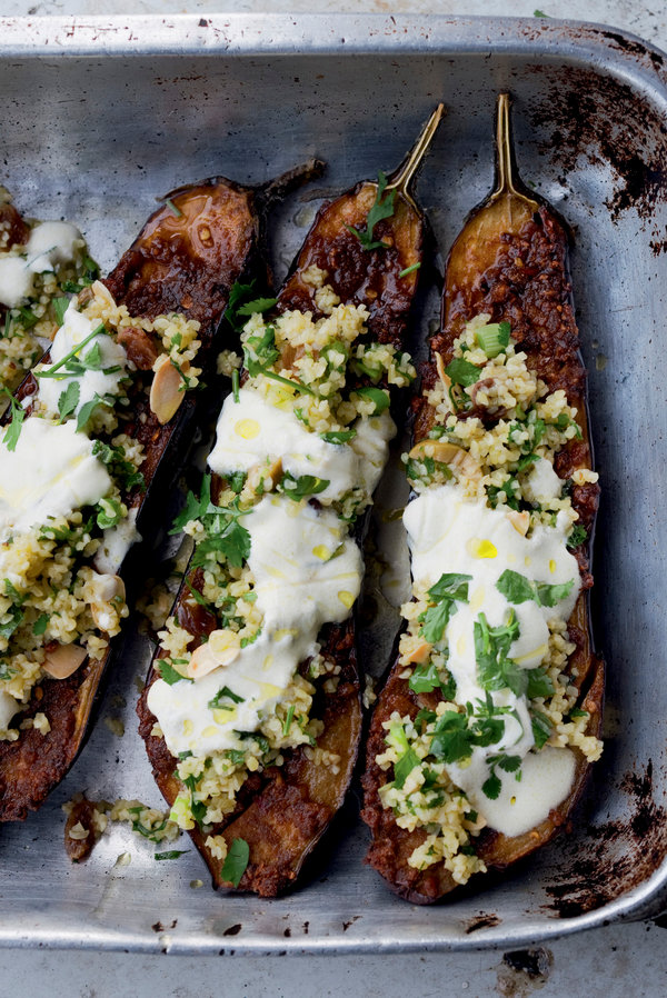 Chermoula Eggplant With Bulgur and Yogurt: Jerusalem