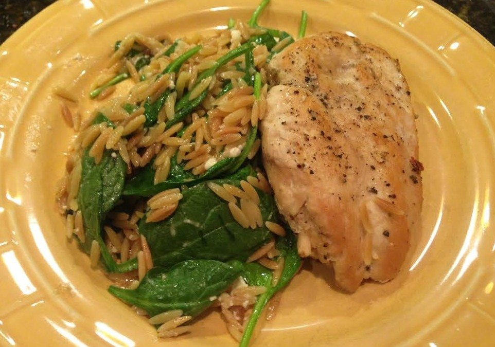 The Complete Cooking for Two Cookbook: Chicken and Orzo with Spinach and Feta