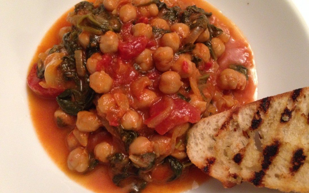 Quick Chickpea and Spinach Stew (or Making a Blender Murderer)