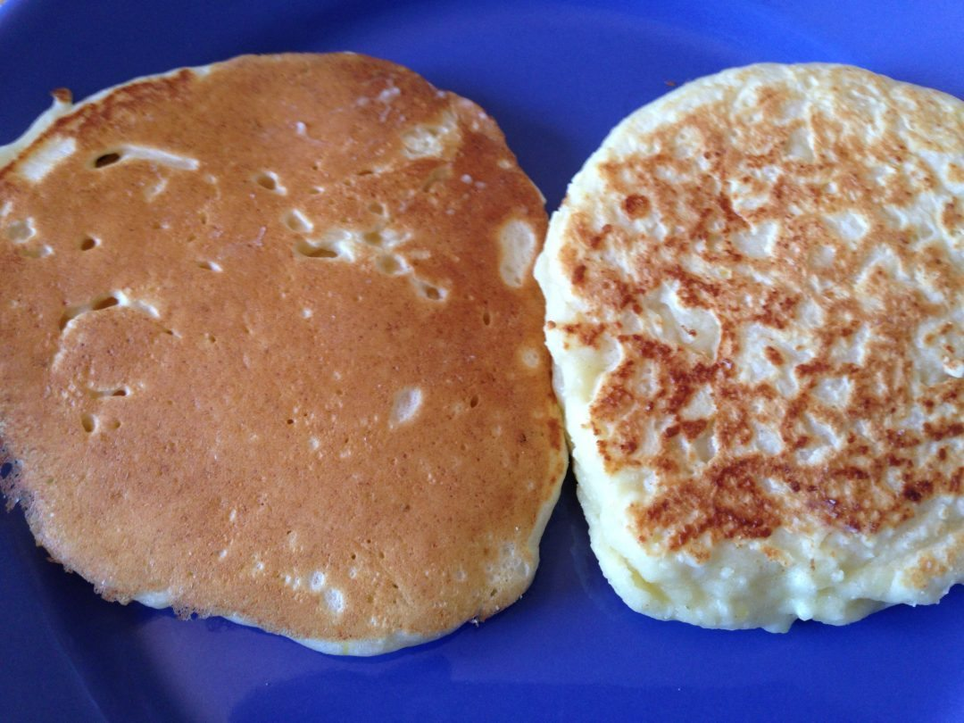 Made-as-written is the crumpet like object on the right