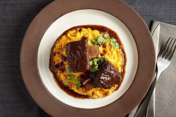 Five-Spice Short Ribs with Carrot and Parsnip Puree