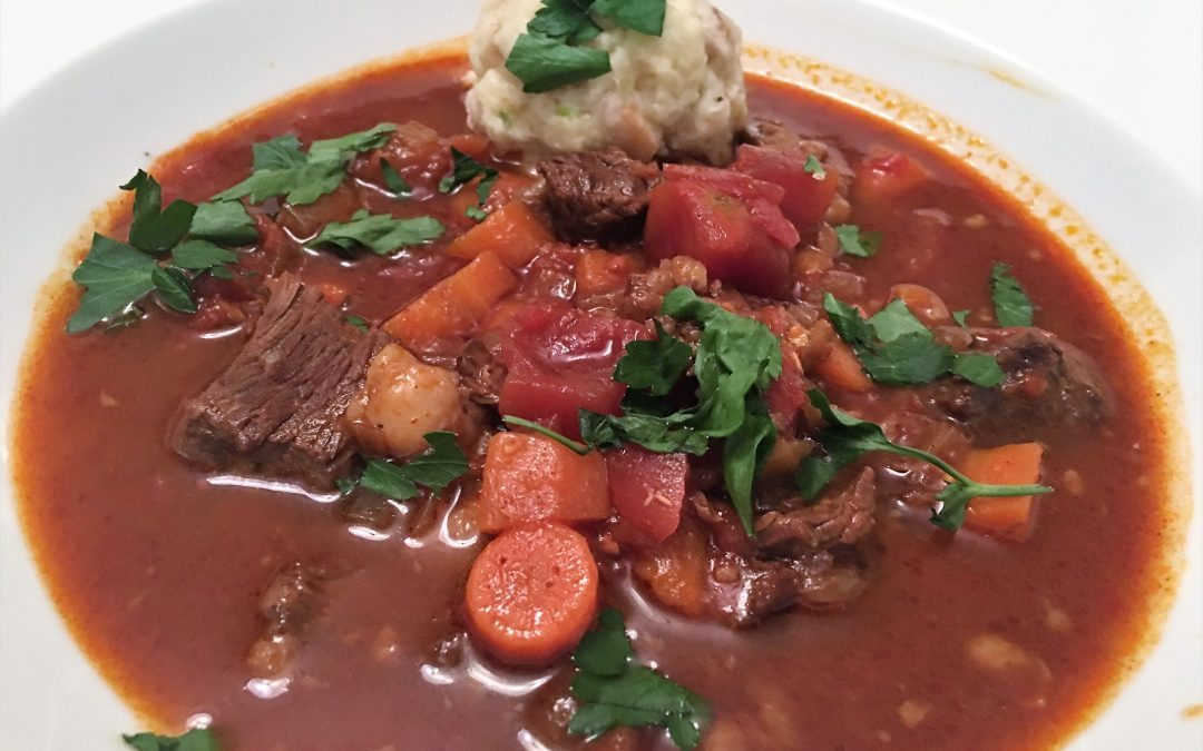 Slow Cooker Goulash with Scallion Knodeln