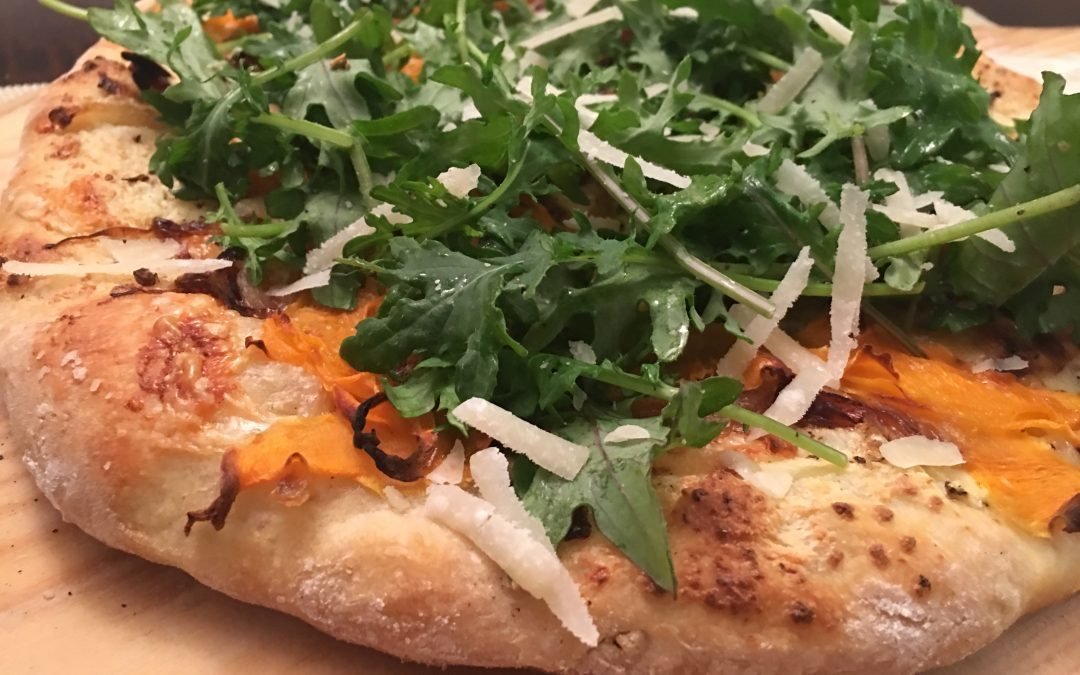 Squash and Ricotta Pizza with Sage and Arugula