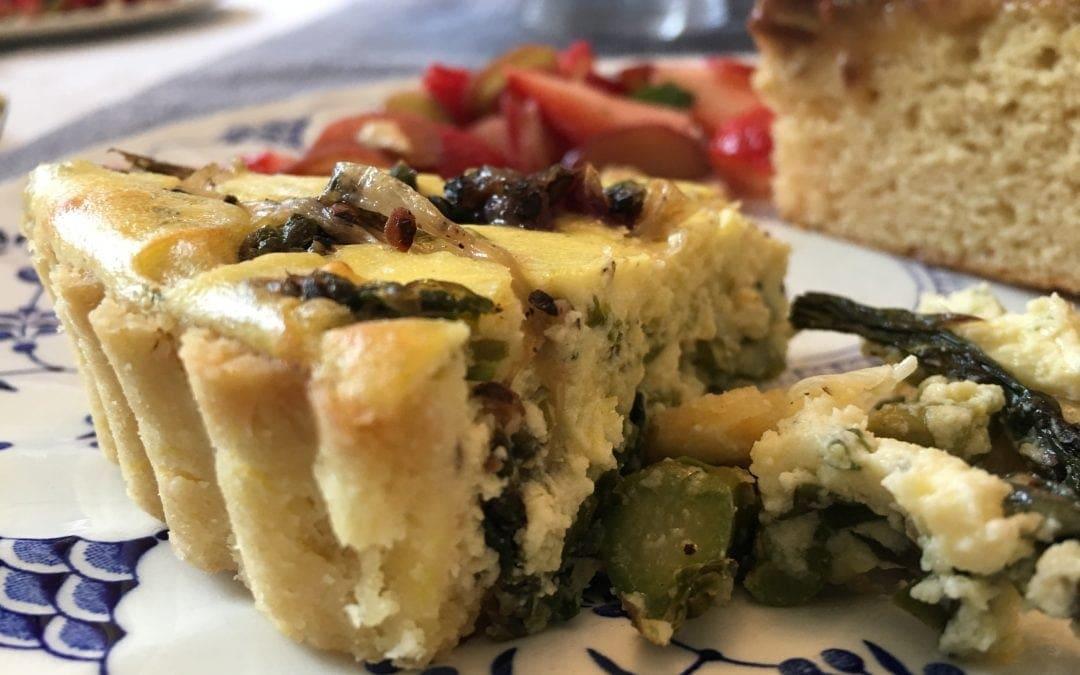 Savory Spring Vegetable Goat Cheese Tart