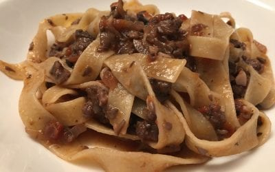 Italian Sausage and Mushroom Ragu with Pappardelle