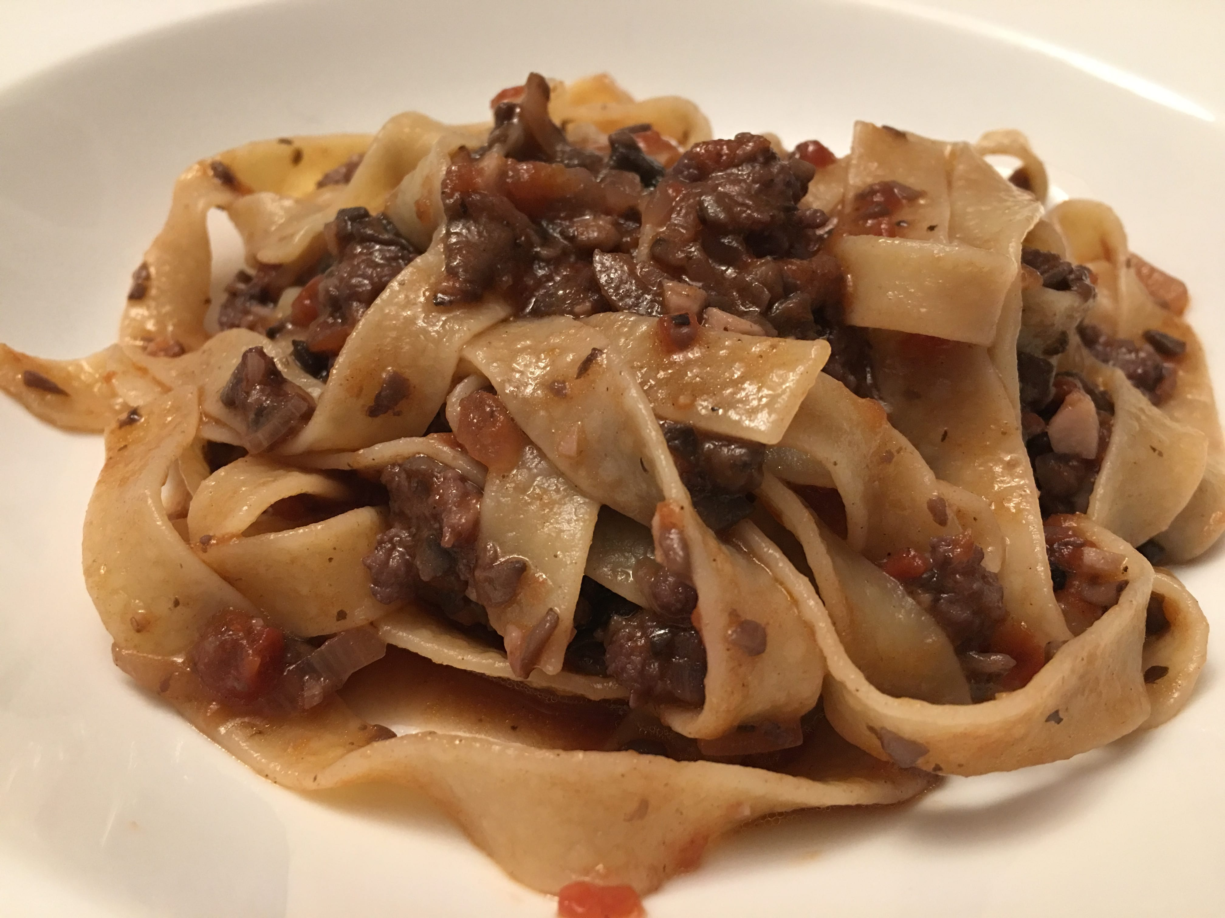 Italian Sausage and Mushroom Ragu with Pappardelle from Christopher Kimball's Milk Street