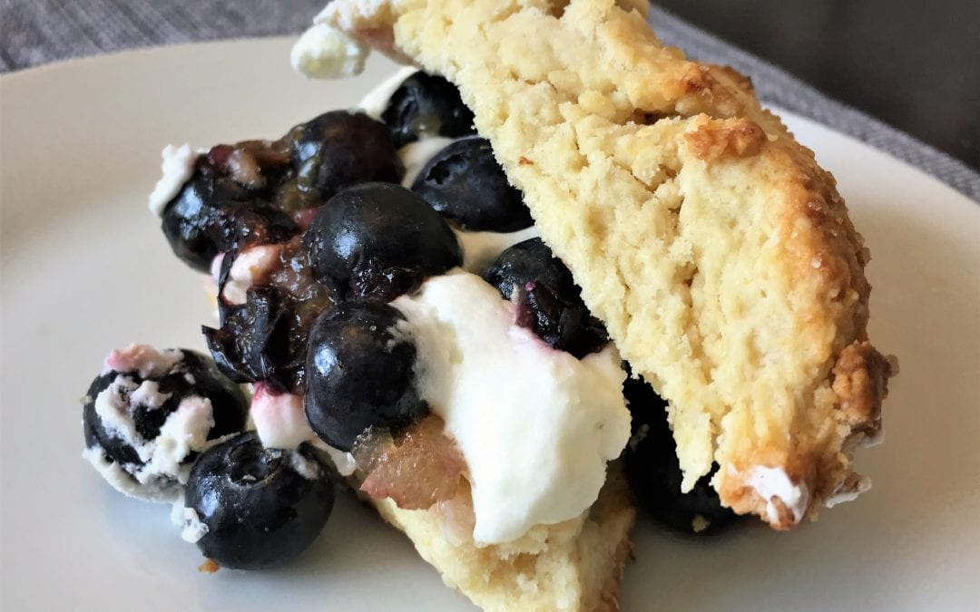 Lemon Shortcakes with Gingered Blueberries