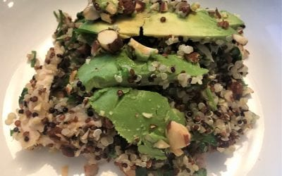 Quinoa Salad With Chicken, Almonds and Avocado
