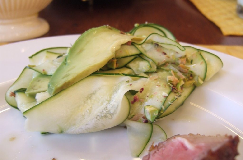 The Essential New York Times Cookbook: Zucchini Carpaccio with Avocado